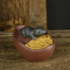Крыса на слитке с монетками № 2